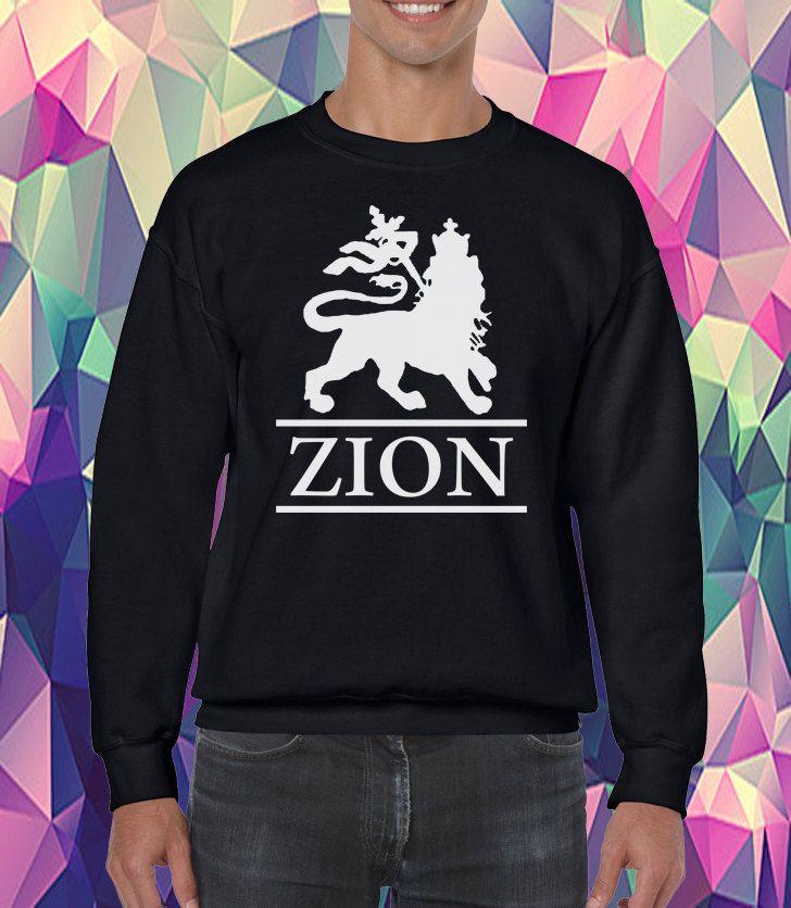 Rasta Zion Lion Sweatshirt!!! Rastafari Cultural Sweatshirt!!!! Screen Printing