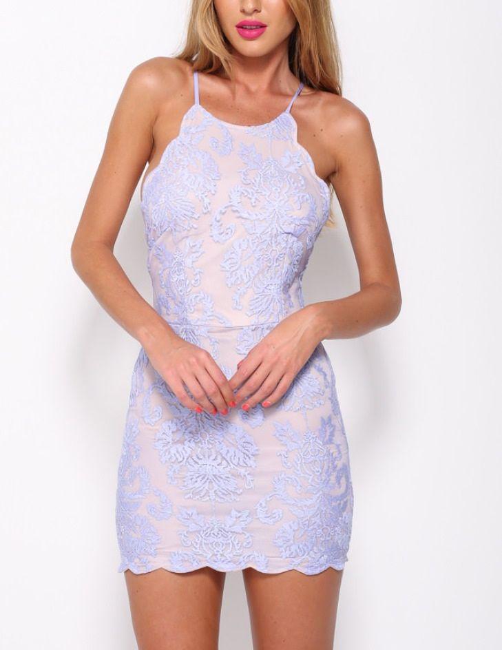 Fashion Frenzzie - Lavender Cross Back Lace Dress, $45.00 (http://www.fashionfrenzzie.com/lavender-cross-back-lace-dress/)