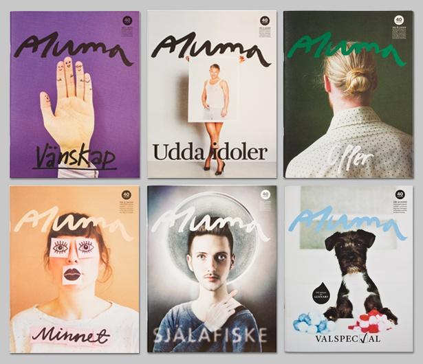 Magazine design of Aluma by Amore. Gold winner Swedish Design Award 2010.  #coverdesign