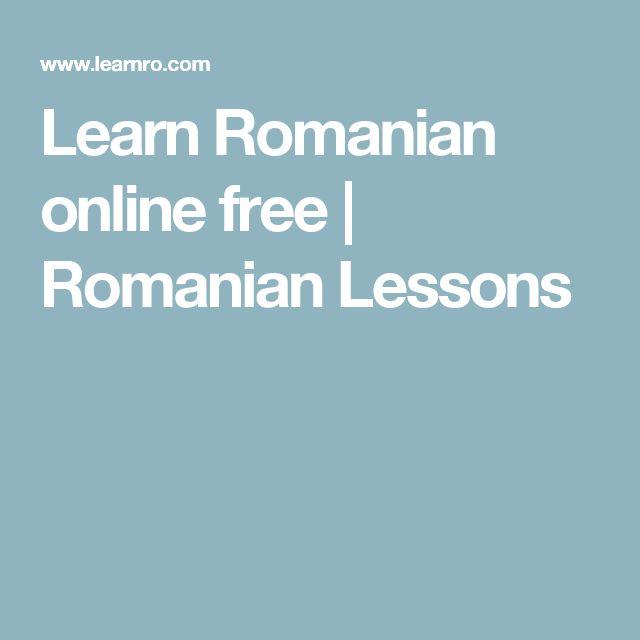 Learn Romanian online free   Romanian Lessons