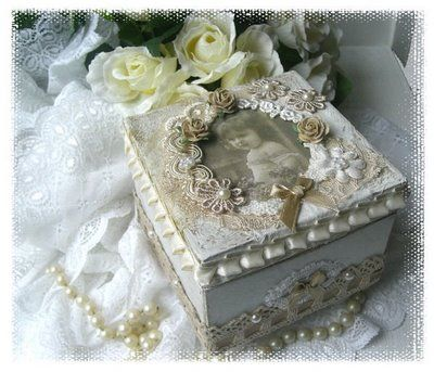 altered box: Altered Boxes, Beautiful Boxes, Craft, Altered Tins Boxes Bottles, Shabby Chic, Boxes Altered, Altered Art Boxes, Boxes Handmade, Photo