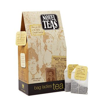 Novel Teas... bookish tea bags tagged with wry quotes from literary greats. from UncommonGoods