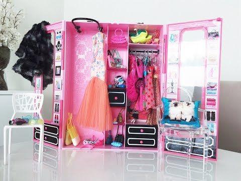 Coisas que Gosto: Closet ou Guarda-roupa da Barbie - Por Mikaela&Sof...