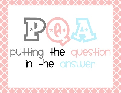 PQA and Constructed Response