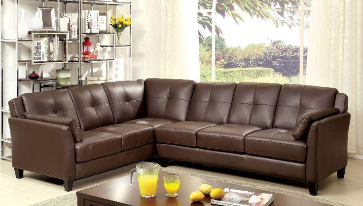 Peever Brown Sectional Sofa - CM6268BR-SET