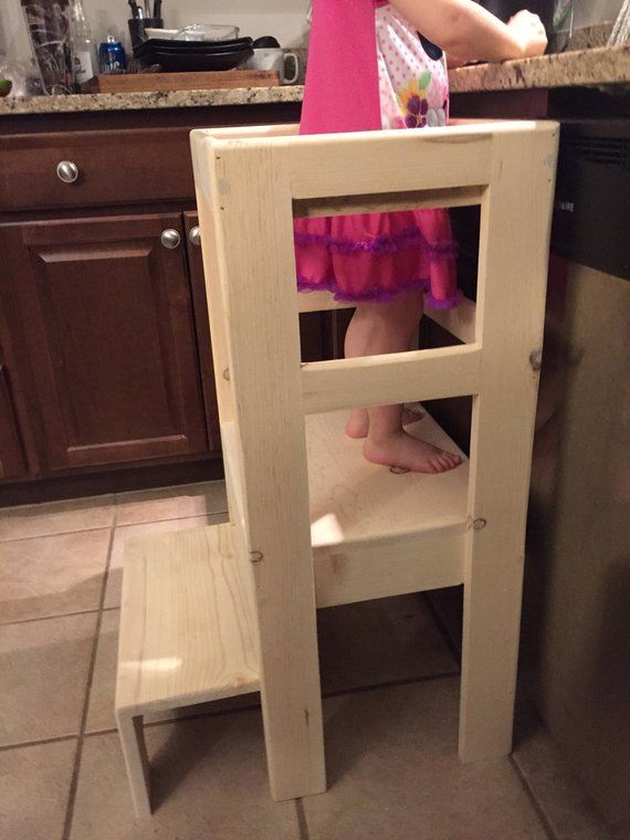 Phenomenal Natural Pine Childrens Kitchen Play Safety Helper Step Beatyapartments Chair Design Images Beatyapartmentscom