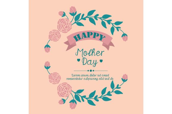 Elegant Frame For Happy Mother Day Graphic By Stockfloral Creative Fabrica In 2020 Elegant Frame Happy Mother S Day Greetings Happy Mothers