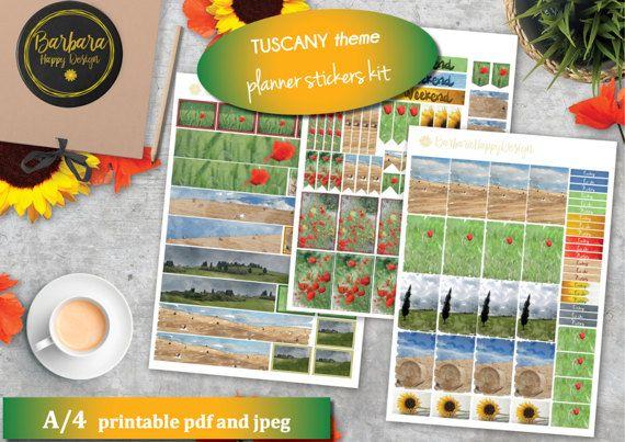 Tuscany Planner Sticker Kit Decorations di BarbaraHappyDesign