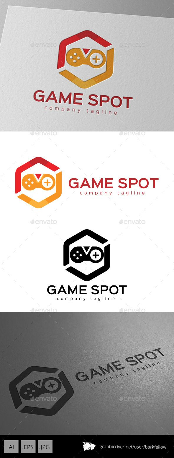 Game Spot Logo Design Template Vector EPS, AI. Download here: http://graphicriver.net/item/game-spot-logo-design/11175643?ref=ksioks