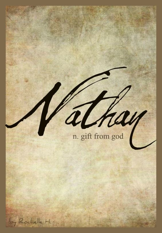 Baby Boy Name: Nathan. Meaning: Gift From God. Origin: Hebrew; English; Irish. http://www.pinterest.com/vintagedaydream/baby-names/