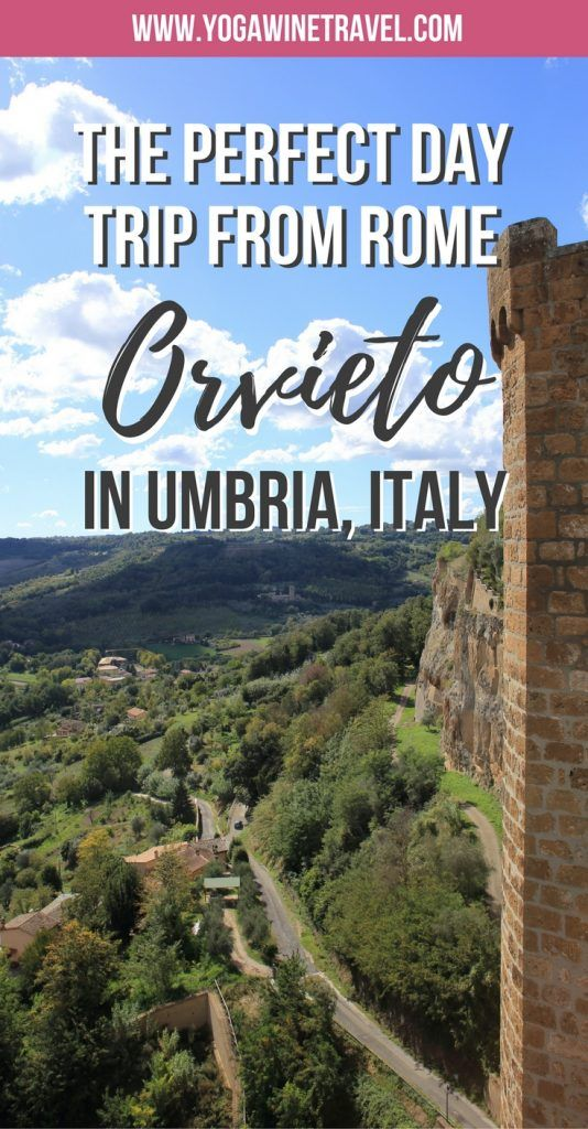 Yogawinetravel.com: Visit Orvieto in Italy, The Perfect Day Trip If You Want to Avoid Tourist Crowds. Orvieto offers up the most striking panoramic views, a stunning Duomo, the Torre del Moro bell tower, the St. Patrick's Well and underground crypts. If you are looking for the perfect day trip from Rome, look no further than Orvieto, a charming little hilltop town in Umbria, Italy.