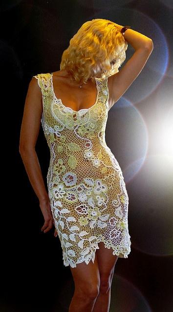 """Dress """"Sonnet"""". Designer - Asia Verten, Italy. Oder pattern from www.irishcrochetlab.com"""