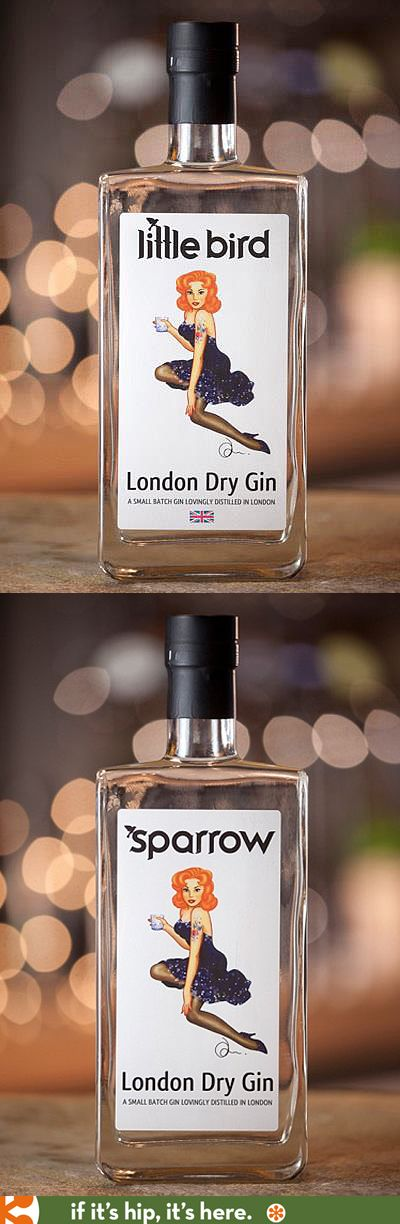 Marketed under both names, Sparrow and Little Bird, this relatively new London Gin has a classic pin up girl on the label.