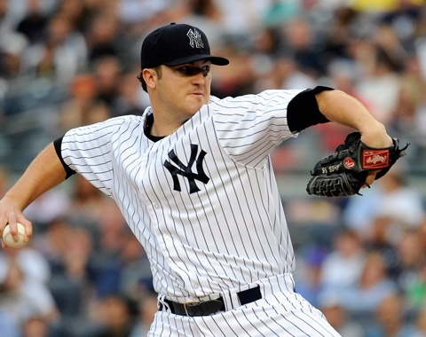 2012-06-09 Hughes, Teixeira lead Yanks past Mets.  Phil Hughes' 6 1/3 innings and Mark Teixeira's two-run homer helped the Yanks top the Mets on Saturday.
