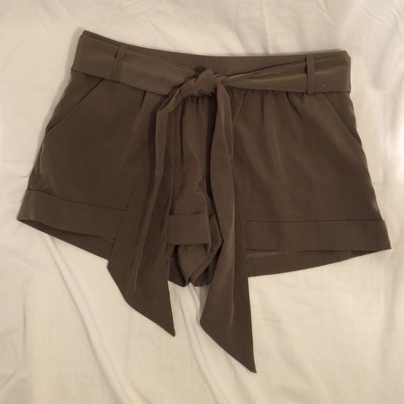 Express Olive Shorts Excellent condition! Feel free to look around, I am always happy to bundle :) Express Shorts