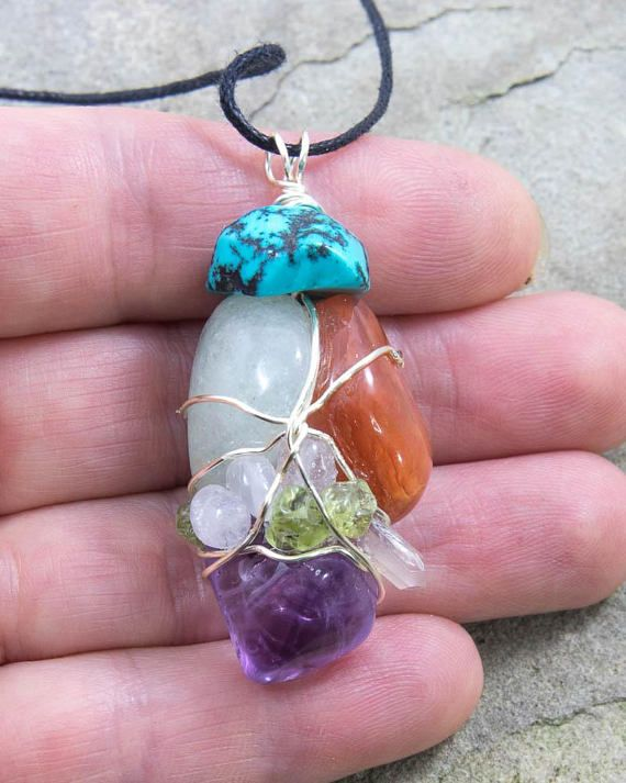 Adventure Amulet Wire Wrapped Pendant Carnelian Amethyst