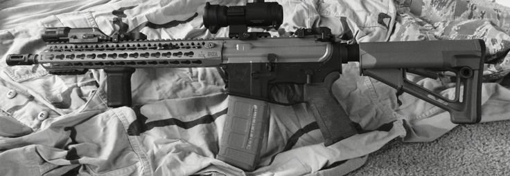 "14.5"" bcm upper spikes lower aimpoint m68 inforce weapon light magpul"