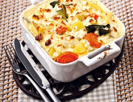 Zapekaná zelenina so syrom feta