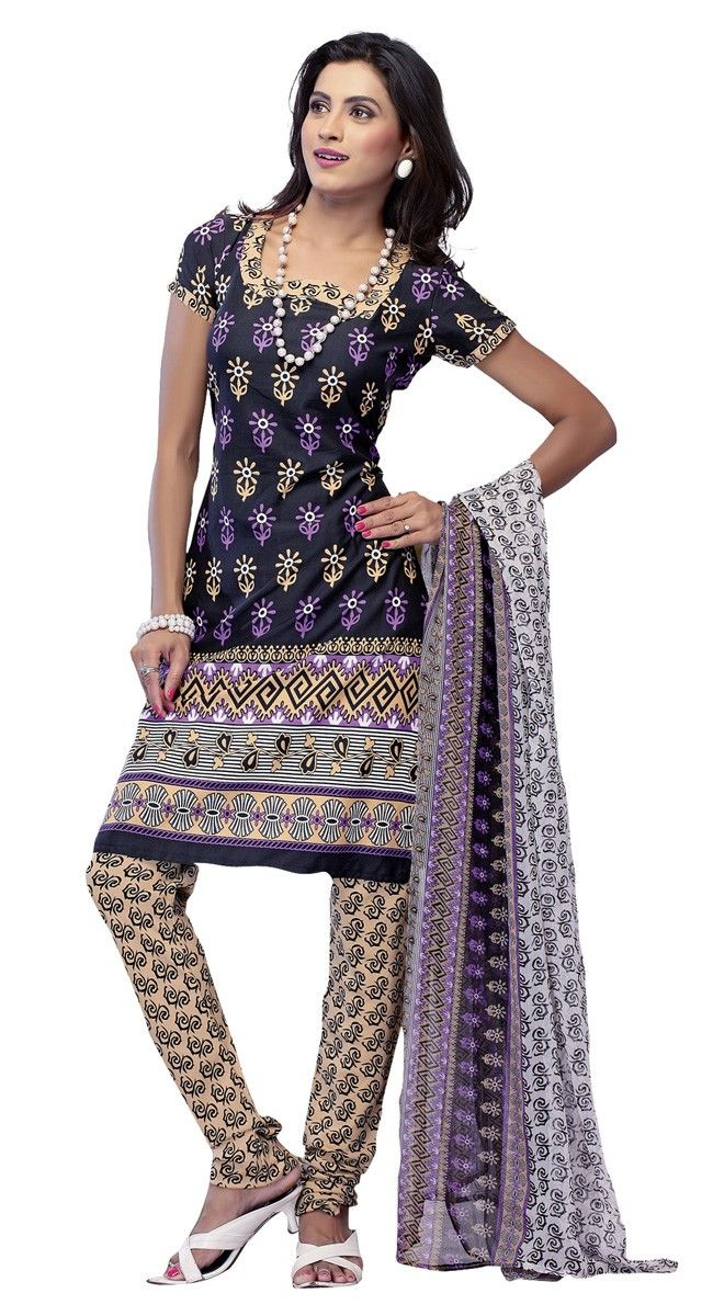 Lush Black & Cream Printed #Salwar_Kameez