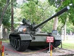 Tank on display at War Museum, Saigon, Vietnam