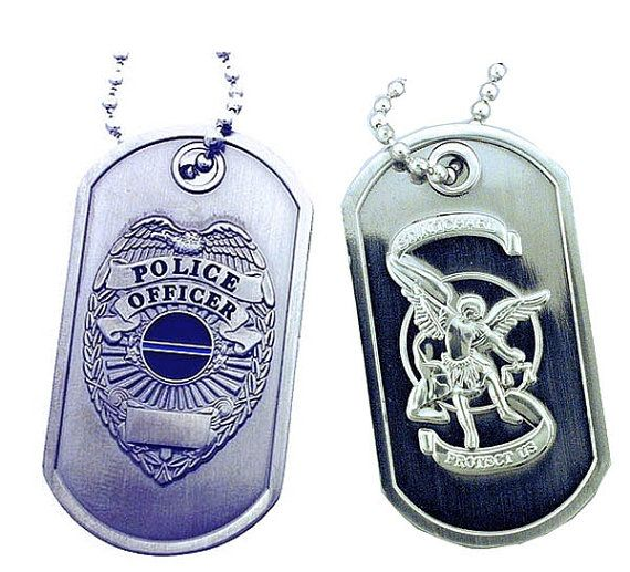 Hey, I found this really awesome Etsy listing at https://www.etsy.com/listing/128267697/police-shield-st-michael-brushed-steel