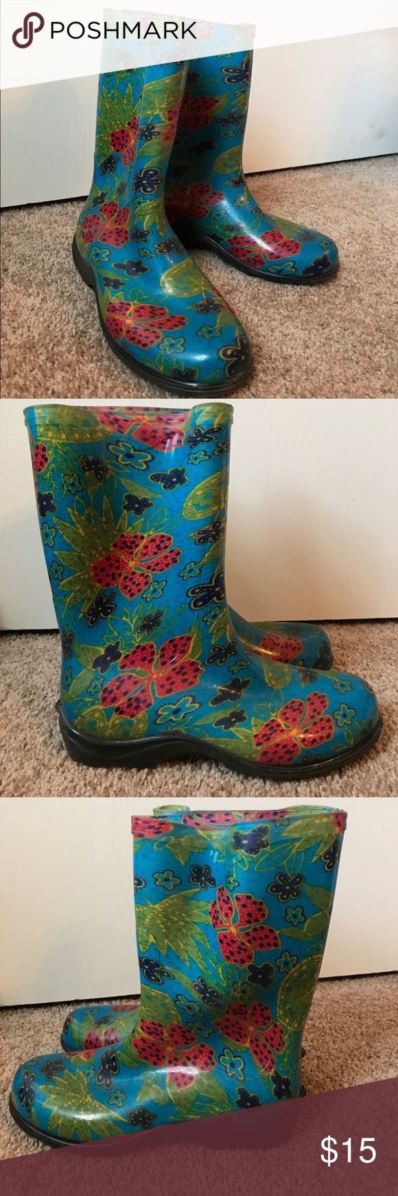 Slogger rain boots ☔️💦 Great condition! Sloggers Shoes Winter & Rain Boots