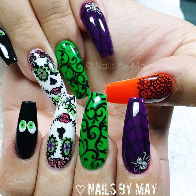 halloween nail ideas for short nails