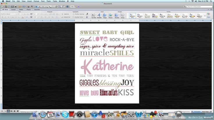 How to create Word/Subway Art with MS Word !! YAY!!
