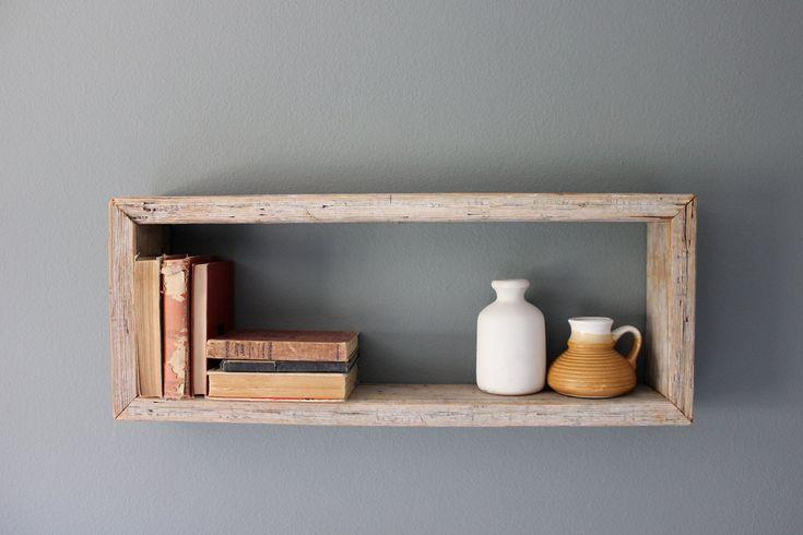 Rustic Wood Box Shelf 50 00 Via Etsy O B J E C T S