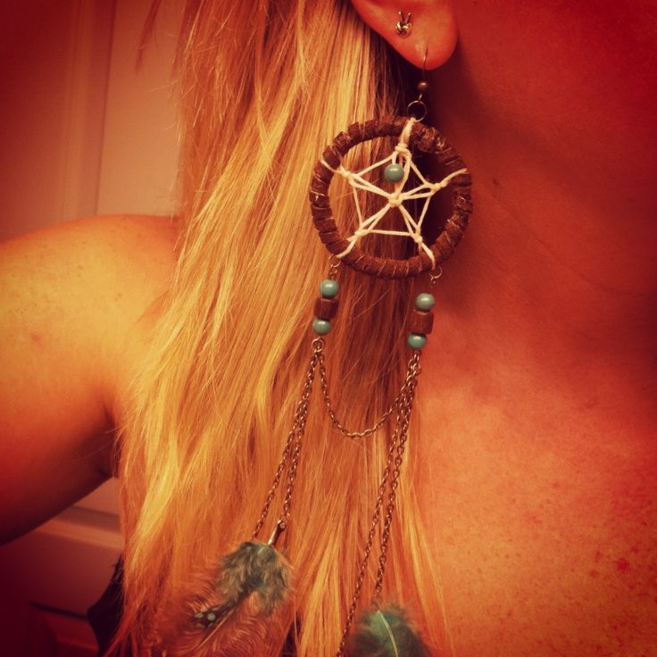 diy dream catcher earring fav things pinterest for