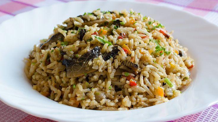 Reteta Pilaf de orez cu ciuperci - JamilaCuisine
