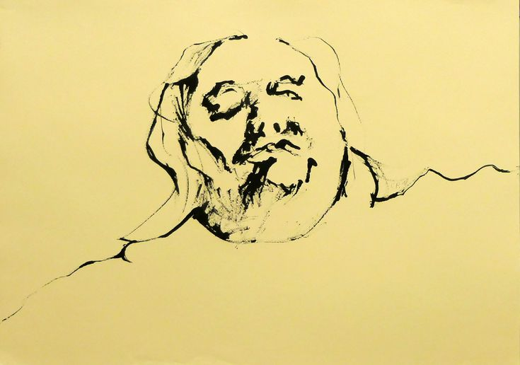 Self-Portrait, ink on paper