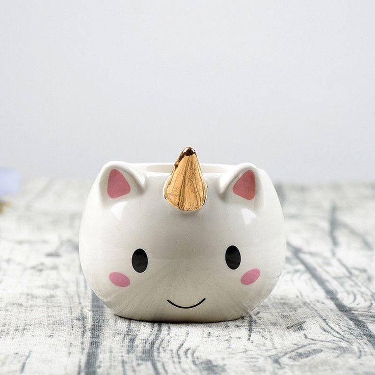 Aliexpress.com: Comprar 3D Tazas de Unicornio pintado a Mano Taza Taza de la Historieta Linda 300 ml Tazas de Café de Cerámica Creativa Oficina Desayuno Taza Chica Regalo de cumpleaños de cartoon cup fiable proveedores en Xida Online Store