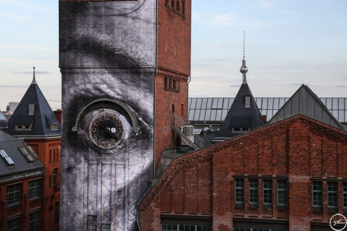 Project The Wrinkles of the City in Berlin, by JR and his crew