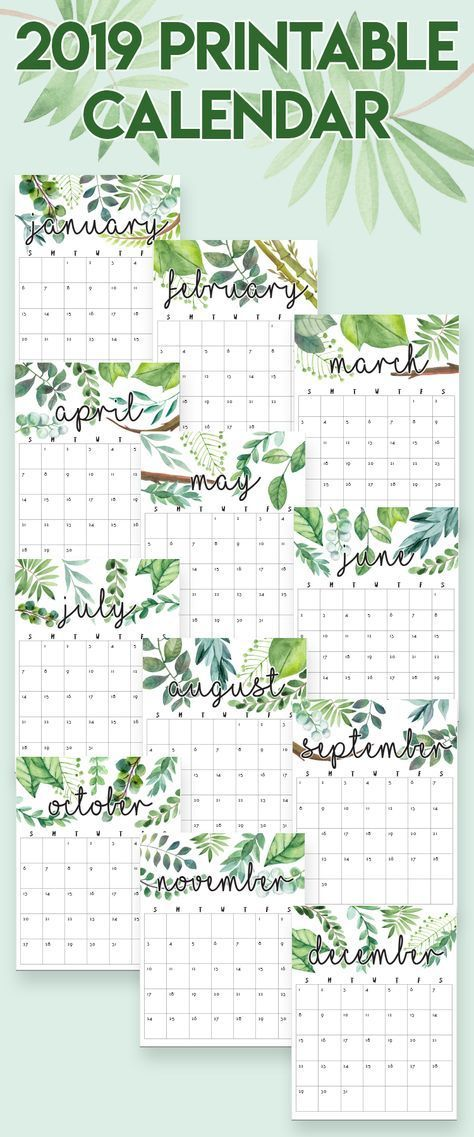 2019 Printable Calendars and Planners 2019 Planner Printables