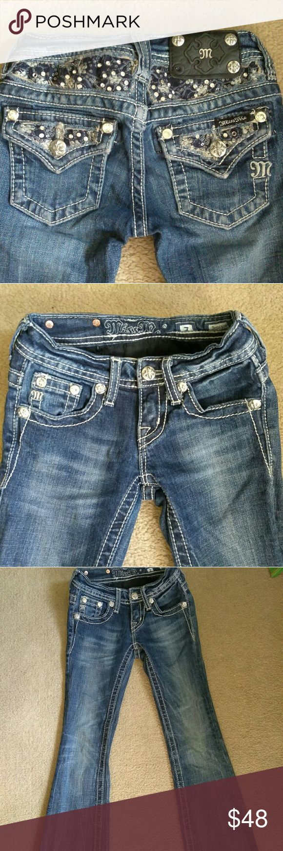 GIRLS MISS ME JEANS SIZE  7 Great condition and she will love these!!!! Miss Me Bottoms Jeans