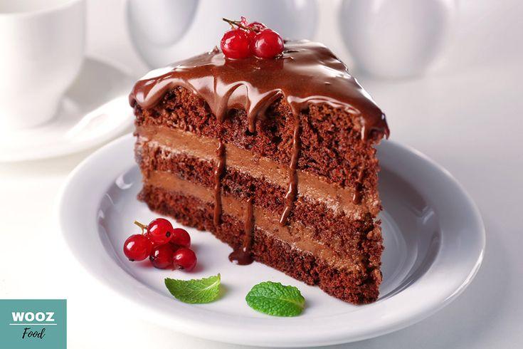 Dark Chocolate Mousse Cake - Wooz Food