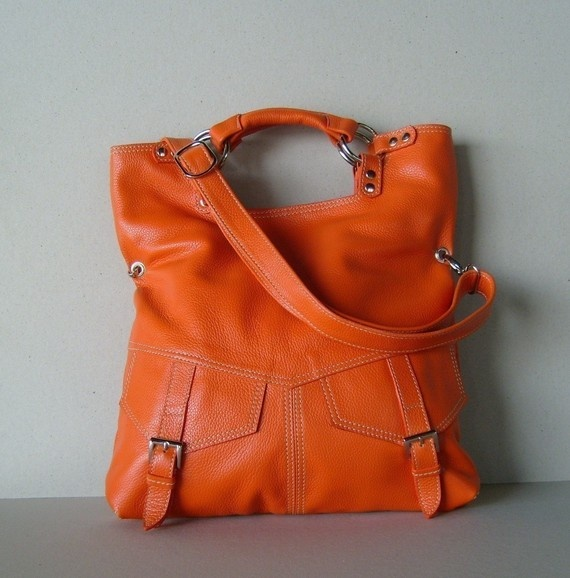 gorgeous in this vibrant orange: Style, Awesome Orange, Bags Orange, Orange Awesome Handbags, Leather Handbags, Handbag Addiction, Louis Vuitton Handbags, Leather Purses