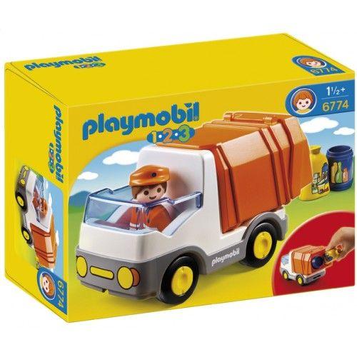 Playmobil 1.2.3 6774 Camion poubelle