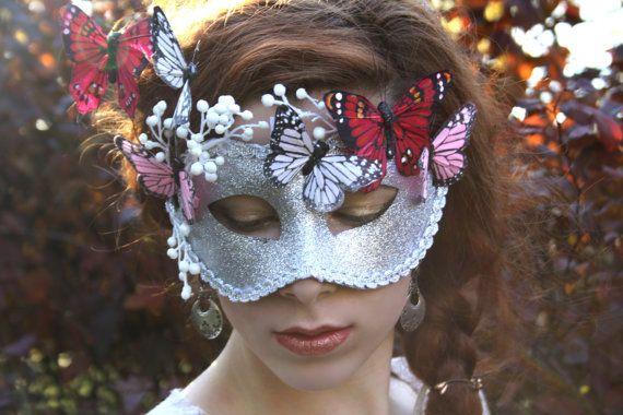 Silver Masquerade Mask masquerade ball mask by WildRoseAndSparrow
