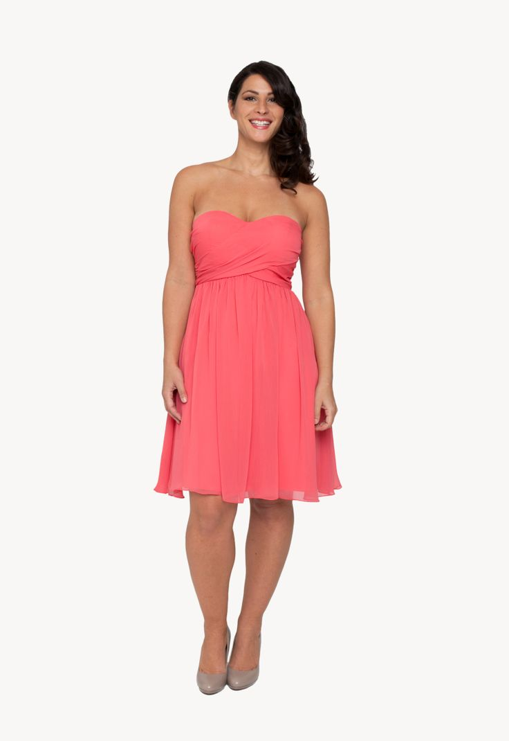 Wedding Bridesmaid Dress Rental 17 best ideas about rent a wedding dress on pinterest pink cute strapless bridesmaids in papaya for spring and summer weddings one of