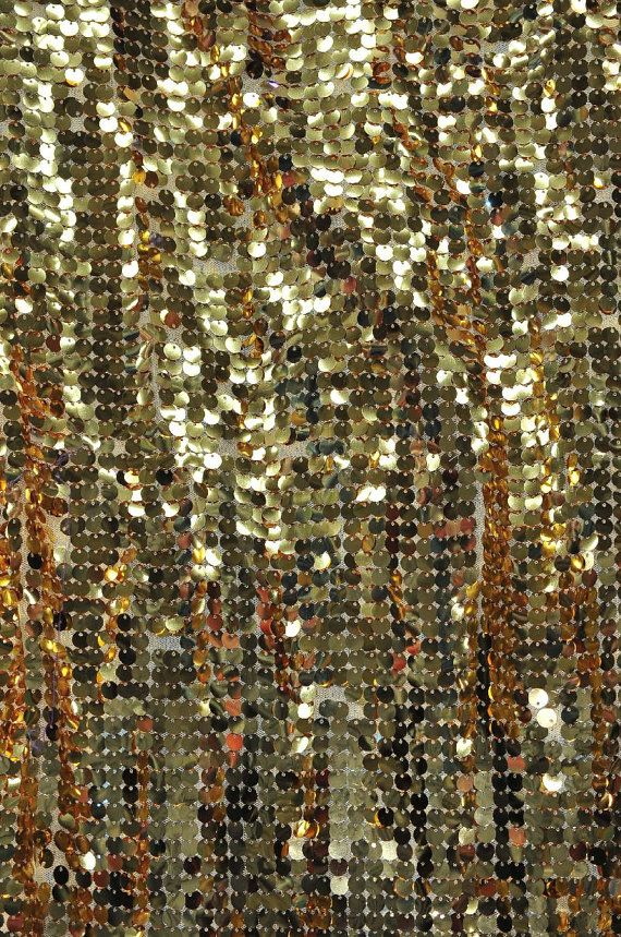 SET OF 2 88 x 88 Gold Sequin Table Overlays by SparkleSoiree 140/00