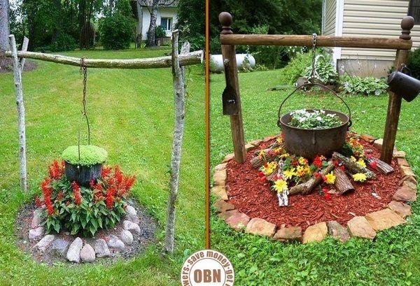 Fire Pit and Cauldron Planter!