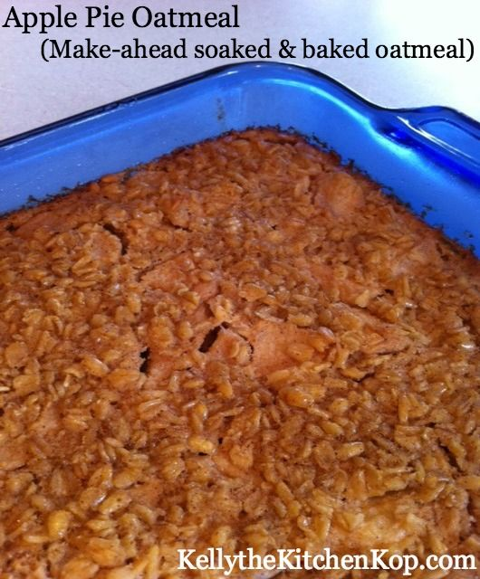 Just got this ready for the morning, the smells will be a great way to wake up!  Baked Soaked Oatmeal Recipe