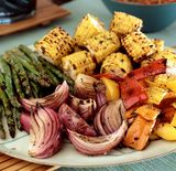 How long to grill vegetables.