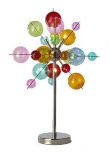 6 light Multicoloured Ball Table Lamp
