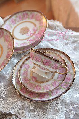Haviland Limoges Teacup, Saucer and Plate
