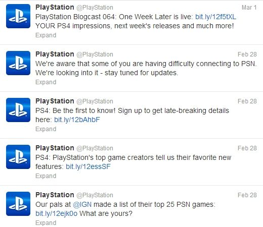 7. Kazuya followed PlayStation Twitter account to get the latest information such as new games and new features.