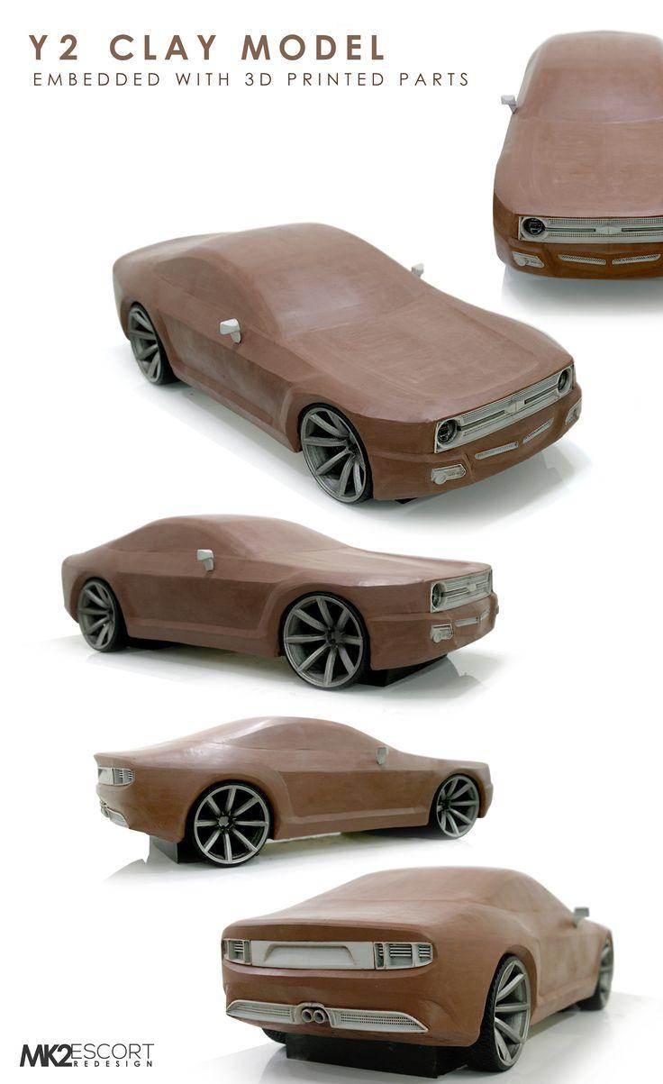 Mk2 Ford Escort Clay Model