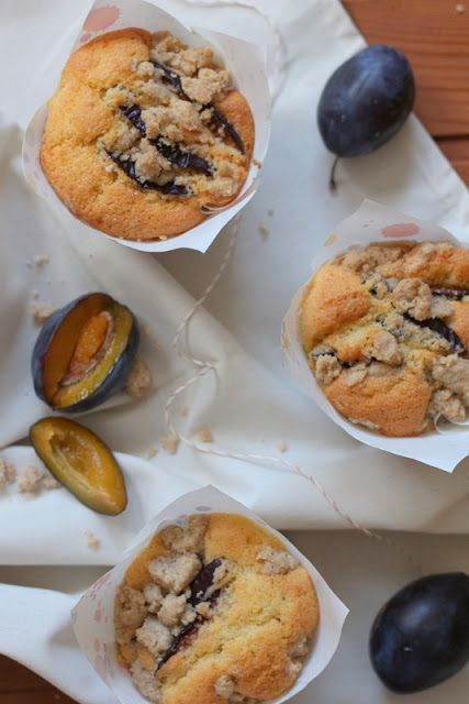 Zwetschgen-Muffins Pflaumen-Muffins Zimtstreusel